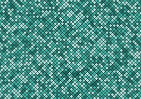padrão sem emenda de pixel de mosaico turquesa verde na textura de fundo preto. vetor
