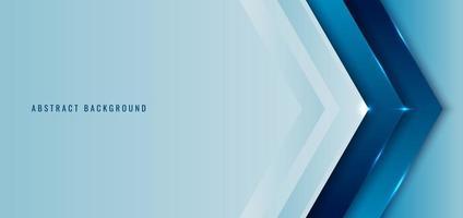 banner web template seta de ângulo azul camada sobreposta com iluminação de fundo vetor