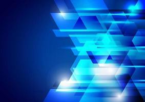 Projeto de tecnologia corporativa do hexágono geométrico abstrato azul com luz de fundo brilhante vetor