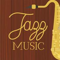 pôster do dia do jazz com saxofone vetor