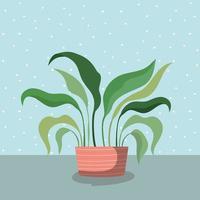 planta de casa em ícone de maconha vetor