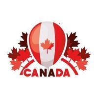celebração do dia canadense com balão vetor