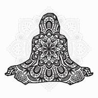 mandala de ioga. elementos decorativos vintage. padrão oriental, ilustração vetorial. vetor
