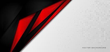 template banner corporativo conceito vermelho preto cinza e branco contraste fundo. vetor