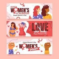 banner de diversidade do dia da mulher vetor