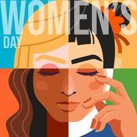 igualdade do dia da mulher vetor