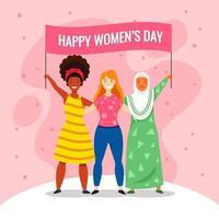 dia das mulheres apoiam-se mutuamente vetor