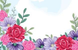 modelo de fundo de flor vetor