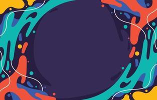 fundo líquido respingo colorido abstrato vetor