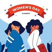 design do dia 8 de março da mulher vetor