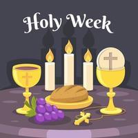 fundo da semana santa vetor
