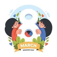 comemorando o dia da mulher design vetor