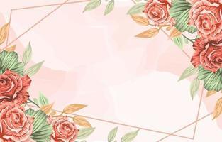fundo de quadro de flores de primavera vetor