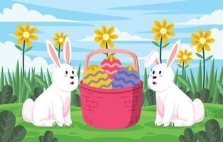 projeto celebração do coelhinho do dia da páscoa vetor