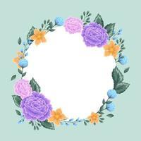 fundo floral em estilo design plano vetor