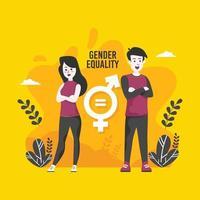 conceito de campanha de igualdade de gênero vetor
