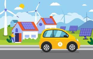 conceito de tecnologia verde vetor