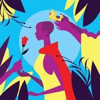 mulher como uma rainha vetor