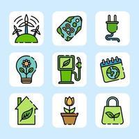 eco verde para uma terra melhor vetor