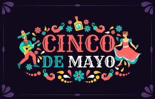 dança para evento cinco de mayo vetor