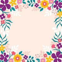 lindo fundo de flores de primavera vetor