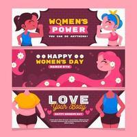 coleção de banner do dia da mulher vetor