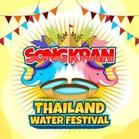 design do festival de água songkran vetor