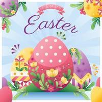feliz dia do ovo de páscoa design vetor