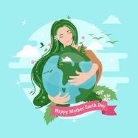 feliz dia da mãe terra vetor