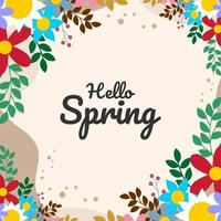 ilustração floral colorida da primavera plana vetor