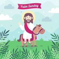 conceito de ilustração palm domingo vetor