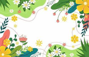 fundo de primavera natural vetor