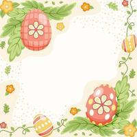 fundo colorido e bonito de ovos de páscoa vetor