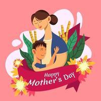 amor de mãe e filho vetor