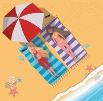 bronzeamento feminino com design de moda praia