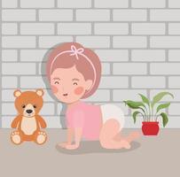 personagem gatinha de bebê vetor