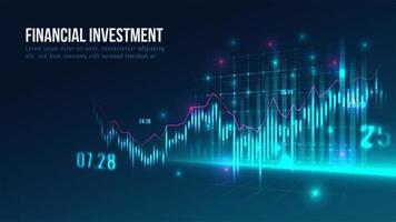 Mercado de ações ou gráfico de negociação forex em conceito gráfico vetor