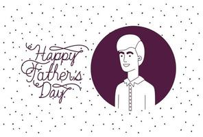 cartão de feliz dia dos pais com personagem pai