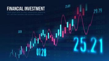 mercado de ações ou gráfico de negociação forex no conceito gráfico. vetor