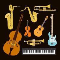 conjunto de instrumentos vetor