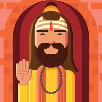Ilustração vetorial de guru vetor