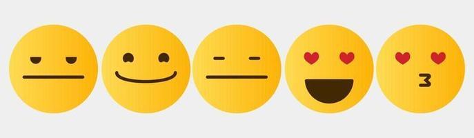 coleção de conjunto de reação de design de emoticon vetor
