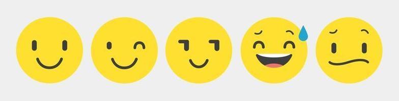 conjunto de coleção de emoticons de reação de design - vetor