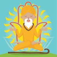 Ilustração do vetor de guru
