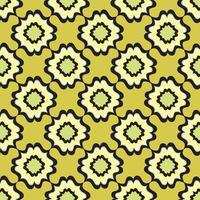 padrão geométrico abstrato. origem étnica oriental floral. ornamento árabe. motivos ornamentais das pinturas de antigos padrões de tecidos indianos. vetor