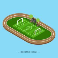 Ilustração isométrica de vetor de futebol