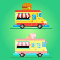 Caminhão de comida vetor