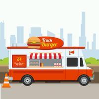 Vetor de hambúrguer de caminhão
