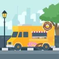 Vetor de caminhão de donuts