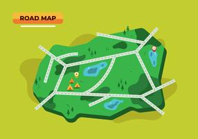 Vetor de mapa de estrada